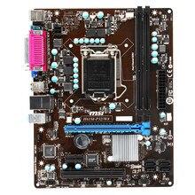 Usado desktop placa-mãe para msi H61M-P32/w8 soquete lga 1155 intel h61 pc placa-mãe ddr3 ram pci-e 3.0 usb2.0 sata ii 16gb