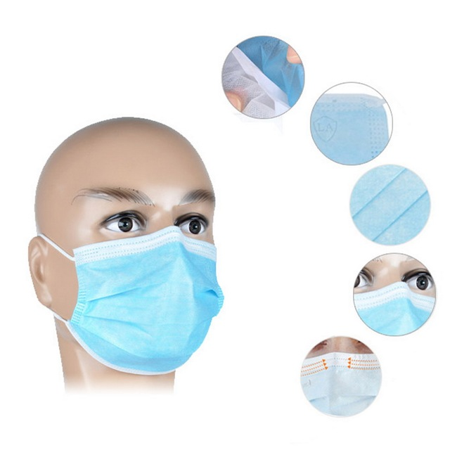 10PCS-100 PCS  Mask Disposable Earloop Face Mouth Masks 3 Layers Anti-Dust Mask Safe Breathable Mouth Mask 4