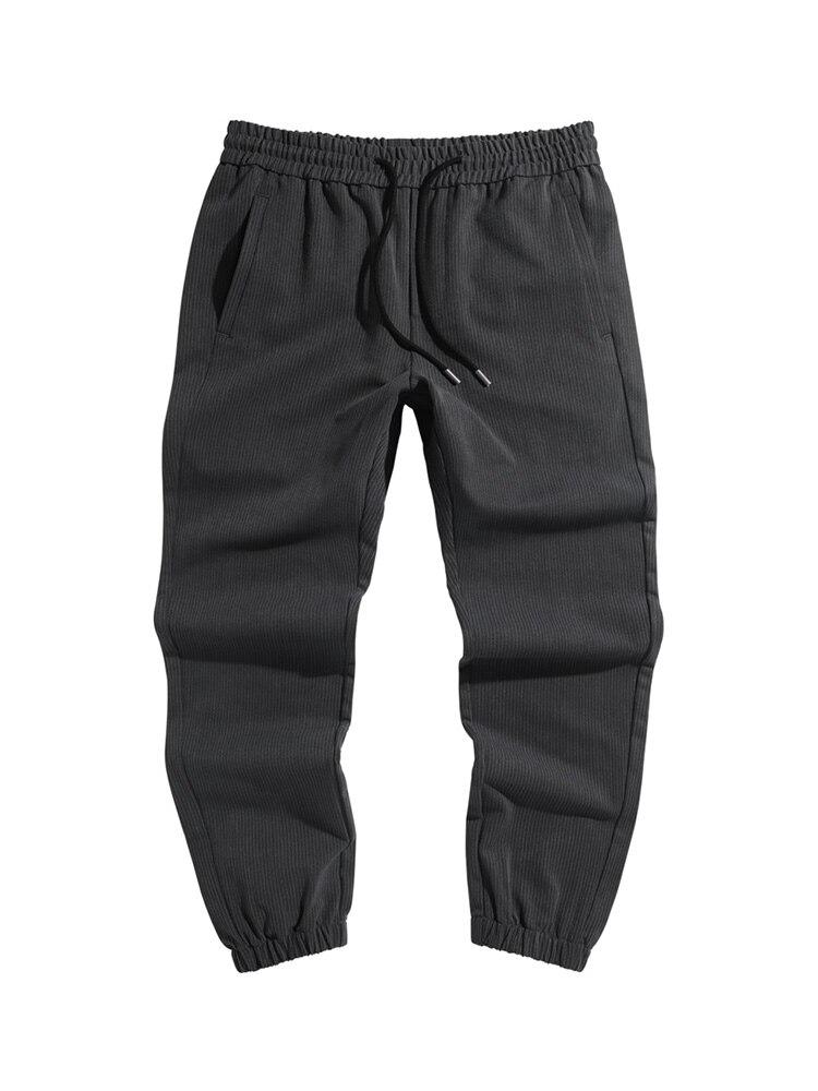 Vintage Autumn Stripe Elastic Casual Pants Men Korean Leggings Straight Pants Loose Cargo Pants For Men Pants Camo NN50CK