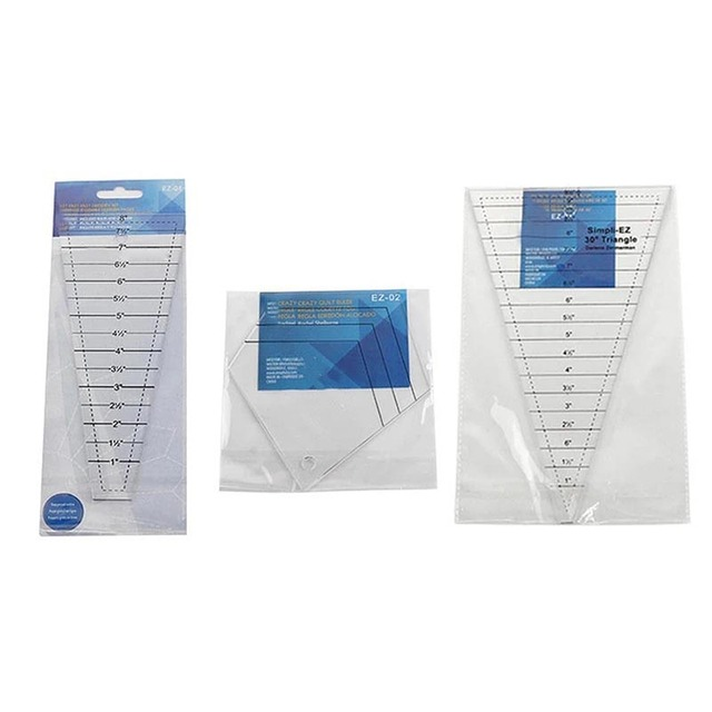 Sewing Crafts Ablita Quilting Ruler with 30 Degree Triangular and ...