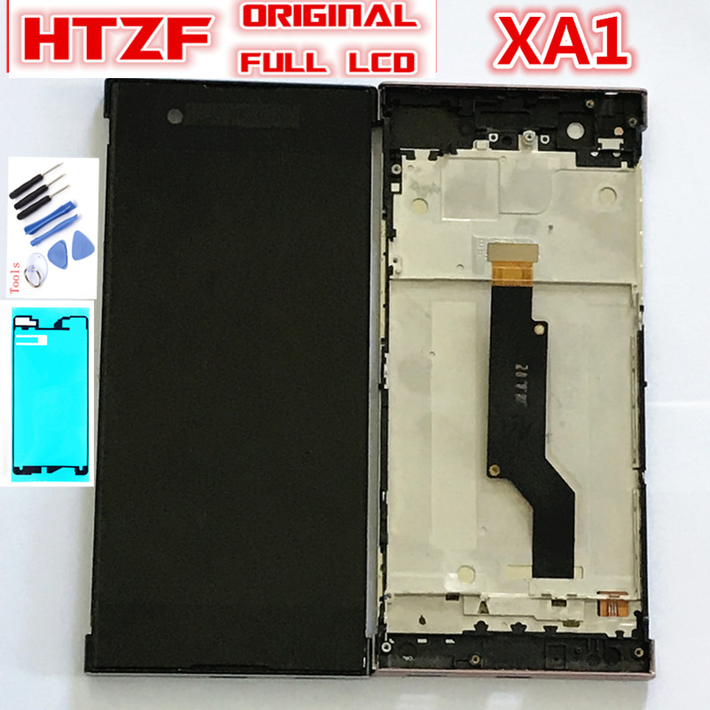 ORIGINAL LCD For SONY Xperia XA1 G3116 G3121 G3123 G3125 G3112 Full Touch Screen Digitizer Sensor Glass + LCD Display with frame Mobile Phone LCD Screens     -