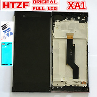 ORIGINAL LCD For SONY Xperia XA1 G3116 G3121 G3123 G3125 G3112 Full Touch Screen Digitizer Sensor Glass + LCD Display with frame|Mobile Phone LCD Screens| |  -
