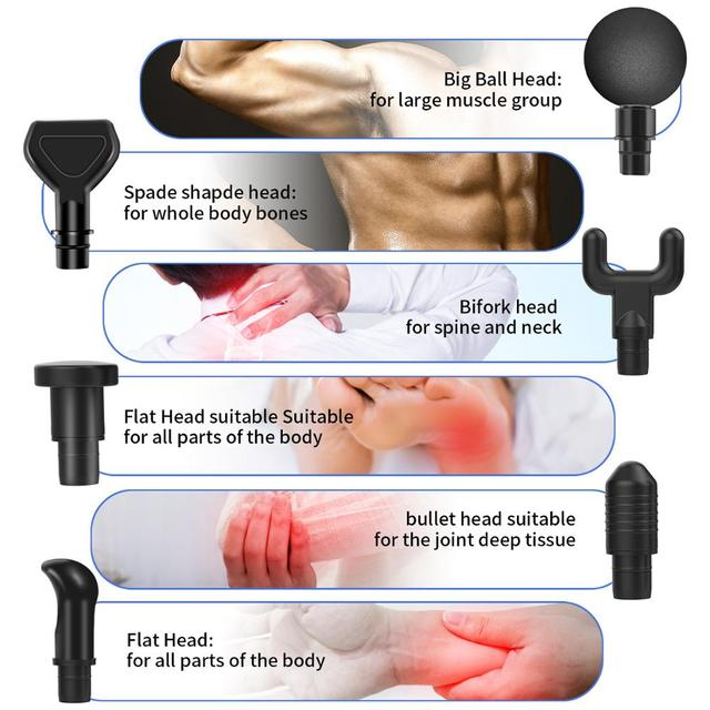 Massage Gun Muscle Relaxation Massager Vibration Fascial Gun Fitness Equipment Noise Reduction Design For Male Female 3