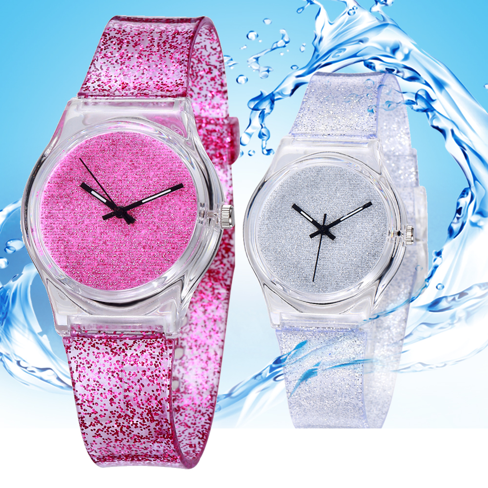 Fashion Waterproof Children Watch Boy Girl Glitter Watch Quartz Baby Clock Gift Meisjes Horloge Horloge Kind Montre Enfants Saat