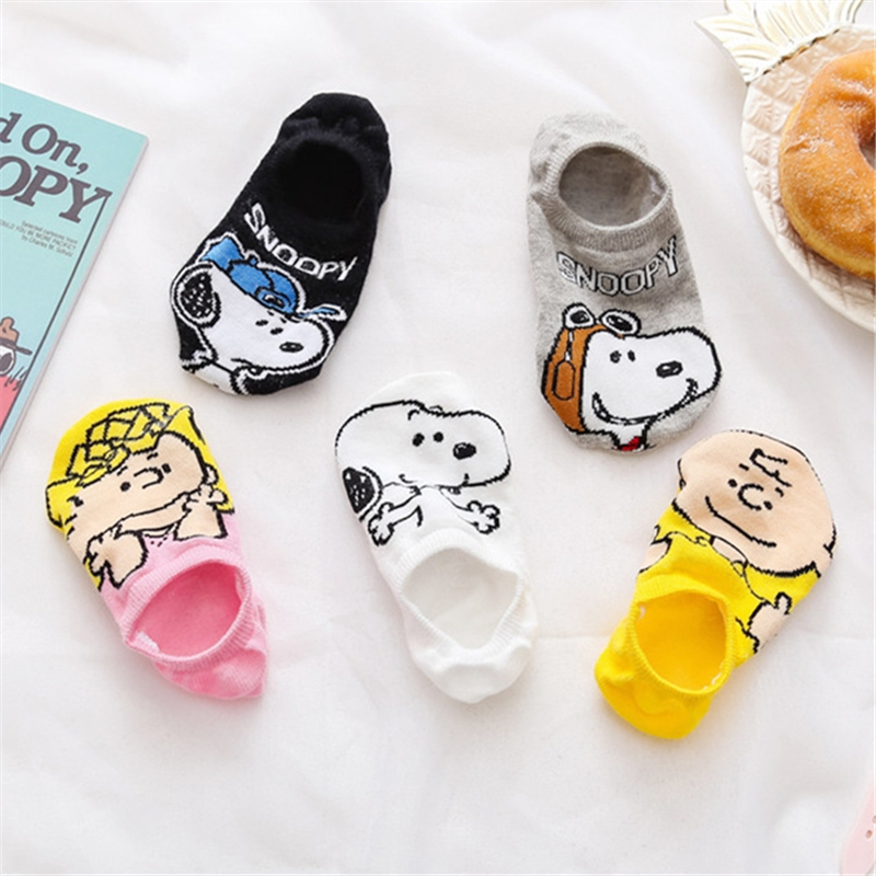 Summer Casual Women Socks Korea Women Animal Cartoon Mouse Ankle Socks Cute Invisible Socks Thin Cotton Stopki Boat Socks