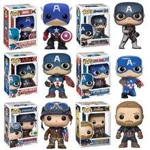 FUNKO POP Marvel Urbanvinyl Captain America Doll Model Toys Keychain Avengers Christmas Gift for Children