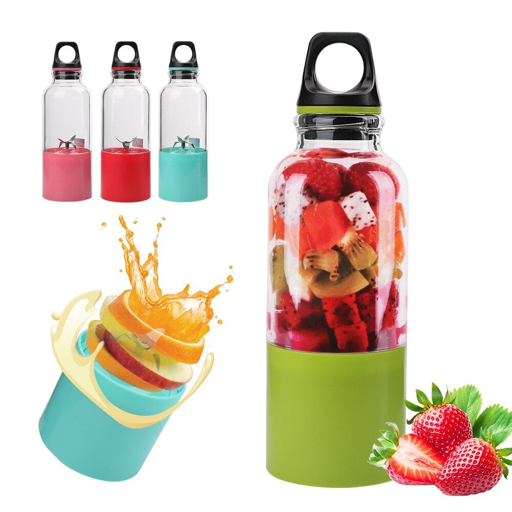 Ev ve Bahçe'ten Manuel Sıkacaklar'de NICEYARD 500ml Shaker Sıkacağı USB Şarj Edilebilir Elektrikli meyve sıkacağı bardağı Blender Makinesi Taşınabilir Meyve Portakal Suyu Sıkacağı title=
