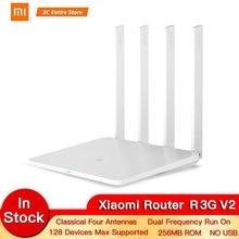 Xiaomi Router 1000M  3GV2 1167Mbps 2.4GHz 5GHz WiFi Mi Router Dual Band 128MB ROM WiFi 802.11ac Four Powerful High-Gain Antennas беспроводной маршрутизатор xiaomi mi wifi router 3g v 2 без usb 802 11abgnac 1167mbps 2 4 ггц 5 ггц 2xlan бел