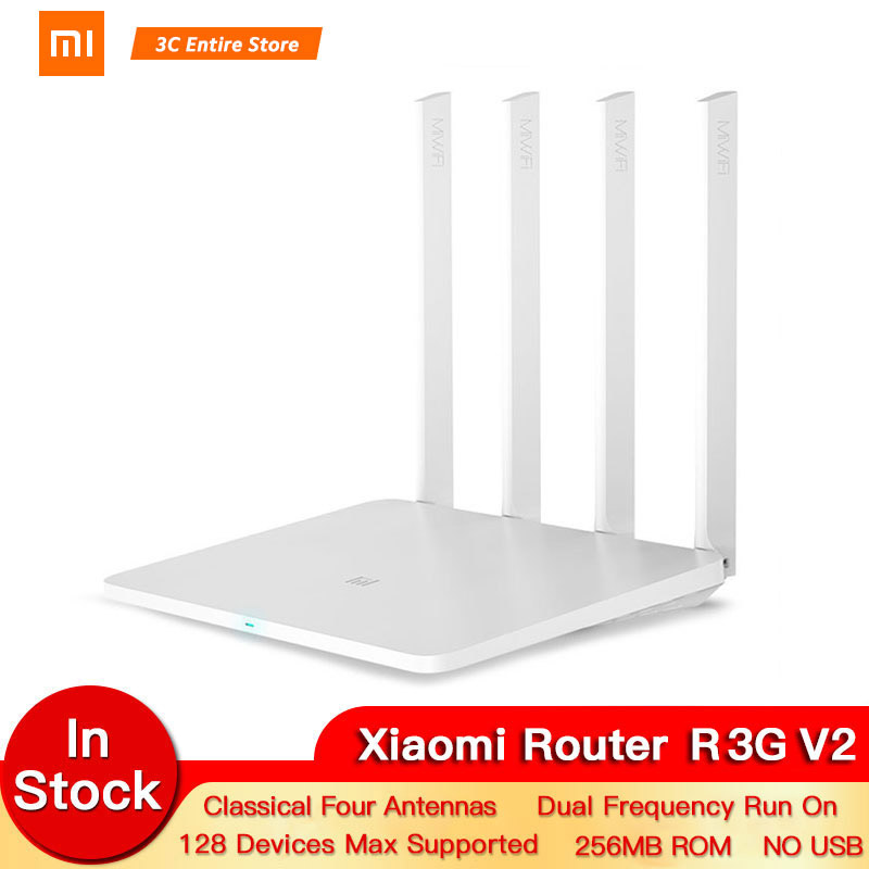 Xiaomi Router 1000M 3GV2 1167Mbps 2.4GHz 5GHz WiFi Mi Router Dual Band 128MB ROM WiFi 802.11ac Four Powerful High-Gain Antennas image