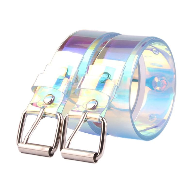 New Women Shinny Colorful Waist Belts Transparent Plastic Square Buckle Belt Ladies Girls  Jeans Dress Decoration Waistband Z30