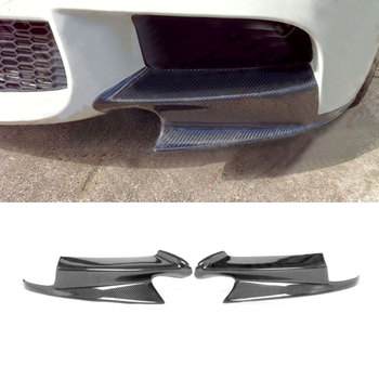 Carbon Fiber Front lip Splitters Flap Cupwings Aprons Spoiler For BMW 3 Series E90 E92 E93 M3 2008-2014 Bumper Guard Car Styling image