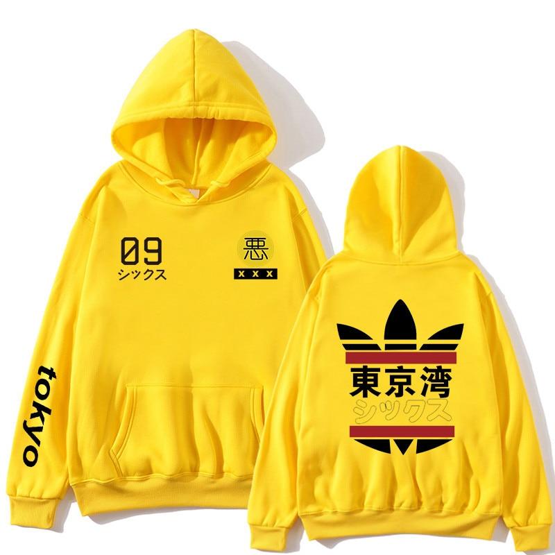 2019 Nieuwe Mannen Vrouwen Hoodies harajuku Lente Sweatshirts Tokyo Bay Hoodies uitloper Mode Rubber poeder Hip-Hop jongens Kled