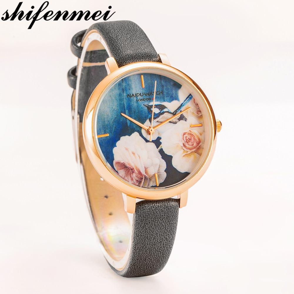 Shifenmei Women Watch Top Luxury Fashion Flower Elegant Ladies WristWatches Casual Female Quartz Watch Relogio Exquisite Gift