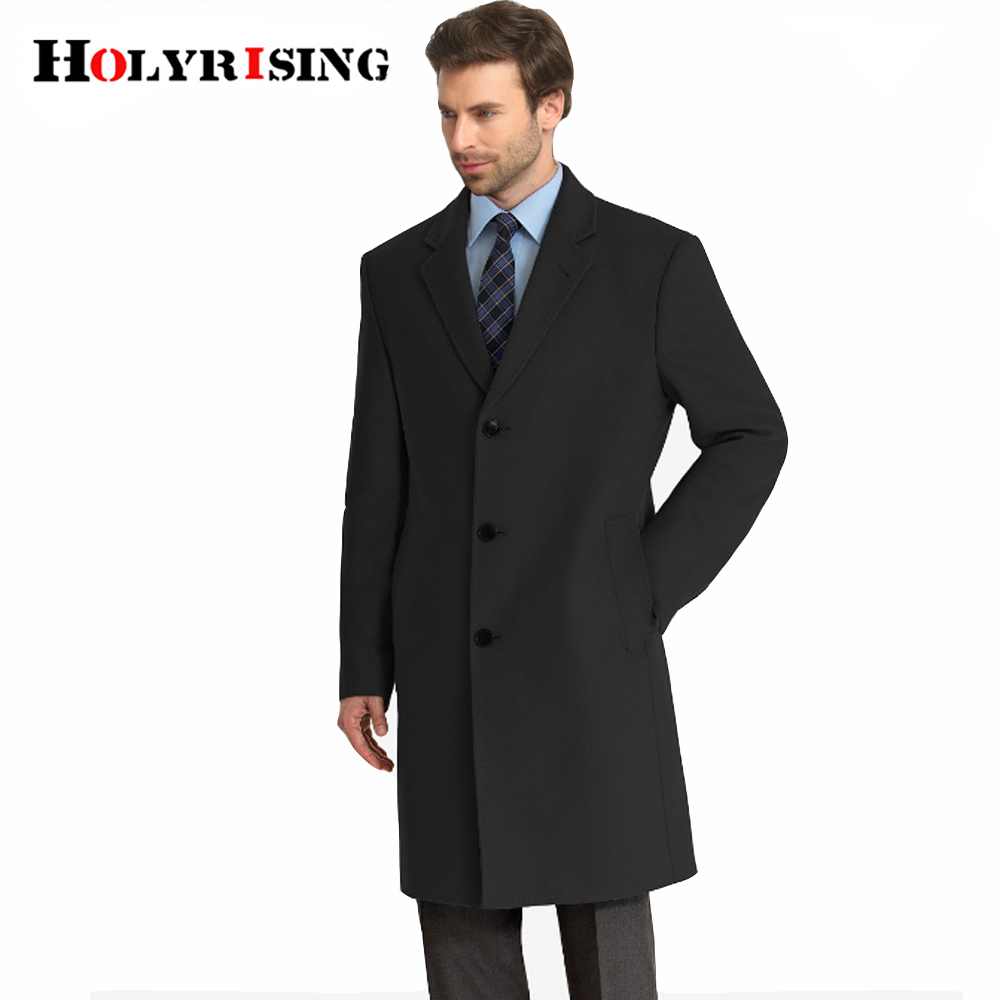S-9XL men wool coat 50% wool Long-length knee-length handsome woolen coat slim woolen coat British style wool coat 19217