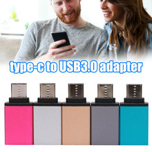 New Mini Type-C to USB 3.0 Adapter Aluminium Alloy OTG Converter for All Type-c Mobile Phone Tablet PC DOM668(China)