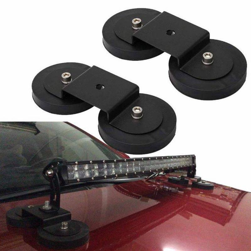 Led Bar Car Spotlight Lamp Holder Magnetic Sucker Mounting Brackets Rubber Protection Magnet Base For Offroad Light Bar Truck Rv