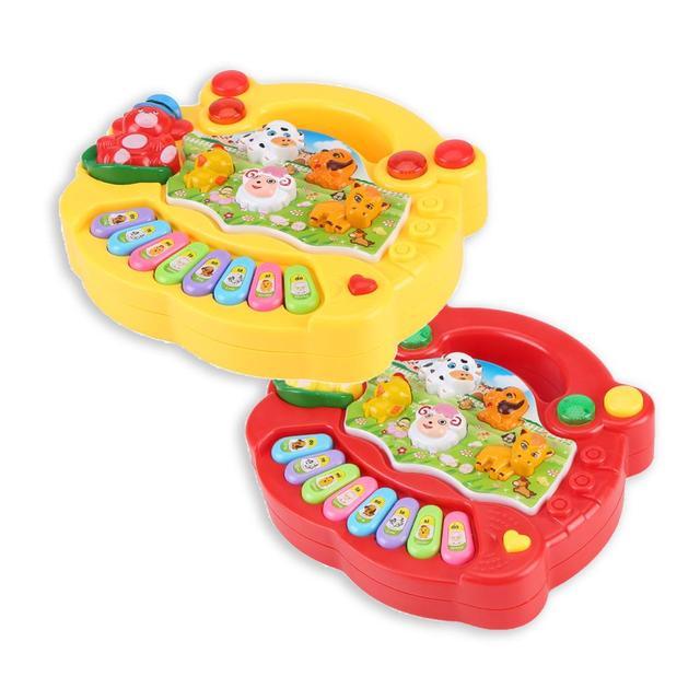 2020 sıcak satış enstrüman oyuncak bebek çocuk hayvan çiftliği piyano gelişim müzik için eğitici oyuncaklar çocuk hediye