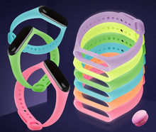 Glowing Colorful Strap For Xiaomi MiBand 3 Bracelet Strap For Mi Band 3 Accessories Bracelet Wrist strap(China)