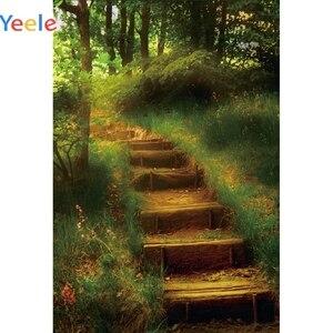 Image 5 - Yeele Merdiven Orman Orman Ağaçları Bahar Manzara Fotoğrafçılık Arka Plan Özelleştirilmiş Fotoğraf Fotoğraf Stüdyosu için Arka Planında