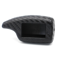 Carbon Fiber Rubber Car Key Case For Scher Khan Magicar 5 6 V Logicar A B Car Alarm LCD Remote Control Silicone Protector Cover