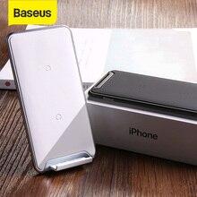 Baseus 10 واط 3 لفائف شاحن لاسلكي آيفون X/XS/XR ماكس 8 8 Plus 11 برو لسامسونج نوت 9 تشى اللاسلكية شحن الوسادة