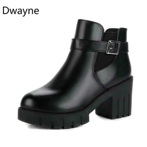 Image 5 - Dwayne 2018 New Autumn Winter Women Boots Suede Female Side Zipper Martin Boots Vintage Fashion Ankle Boots Free Shipping