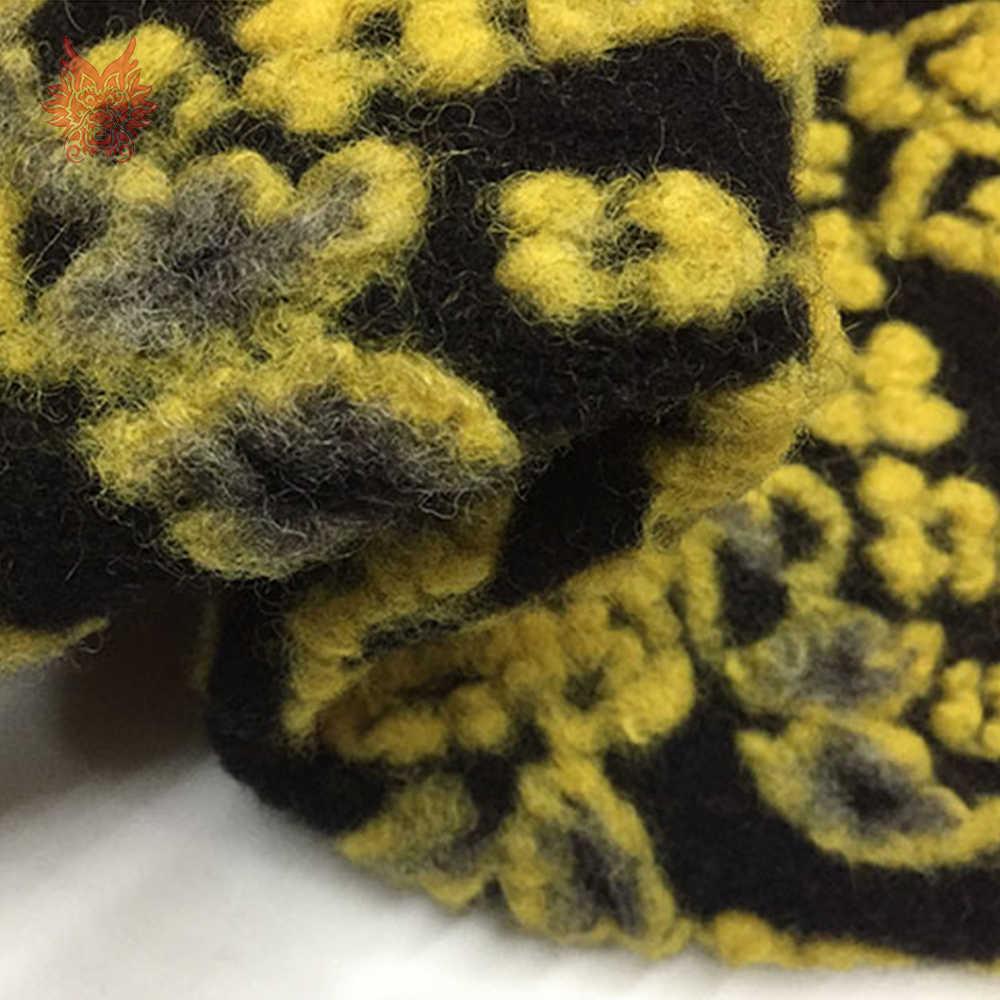 Europa outono inverno 3d floral impresso grosso jacquard malha viscose lã tecido para trench coat camisola tessuto di lana sp5903