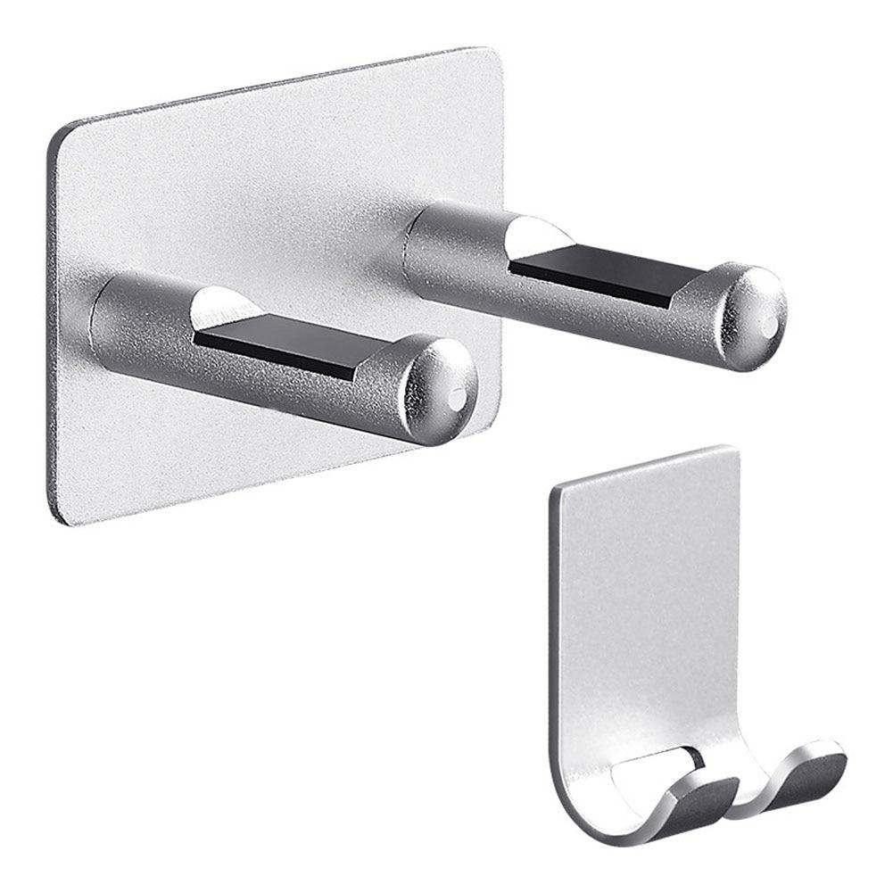 Rack Free Punch Storage Bracket Hanger Bathroom Silver Wall Mount Hair Dryer Holder Waterproof Universal Space Aluminium