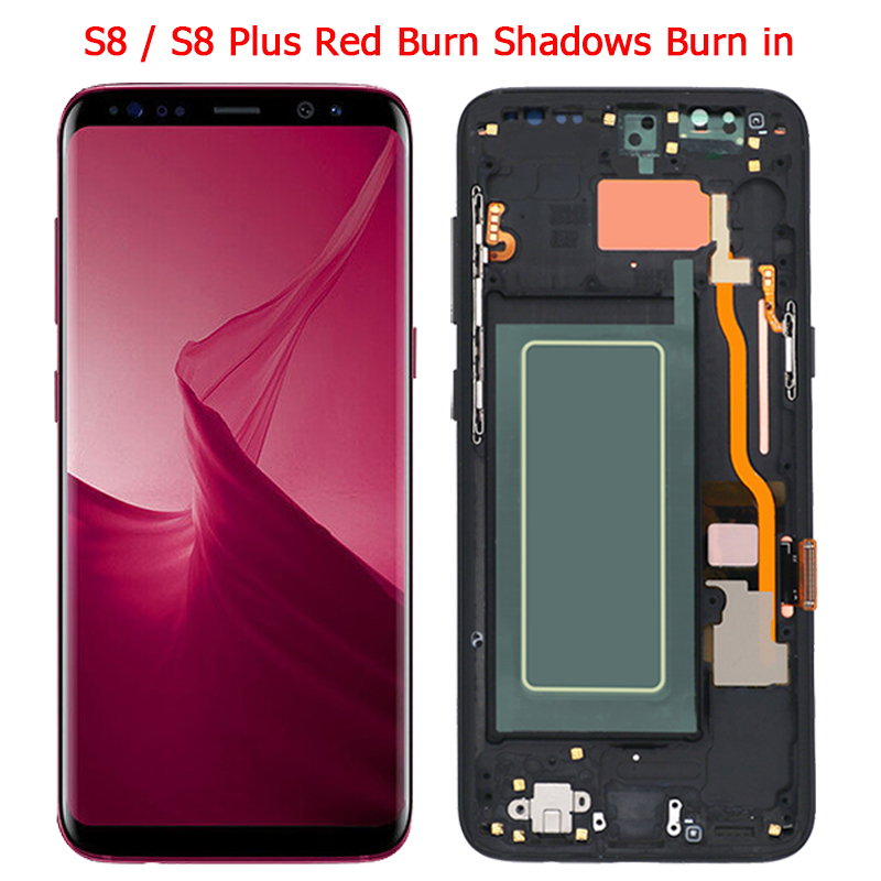 Original S8 Plus LCD For Samsung S8 LCD Display Screen With Frame Assembly S8 Plus SM-G950F-G955 LCD Display With Burn Shadows