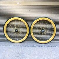 Track bike wheel 60mm RIM aluminum alloy wheelset flip flop wheels fixie bike wheel rim fixed gear bike wheelset|Rims|Sports & Entertainment -