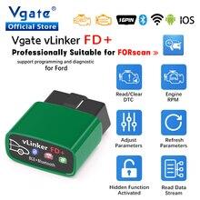 Vgate vlinker fd + elm327 bluetooth 4.0 para ford forscan wifi obd2 carro diagnóstico obd 2 scanner j2534 ferramenta de automóvel elm 327 v 1 5