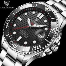 2021 New LIGE DESIGN Mechanical Watches For Men Luxury Automatic Watch Men Waterproof Steel Business Men Watch Relogio Masculino