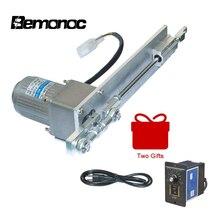 Bemonoc DIY 110V 220V AC pistonlu lineer aktüatör İnme 100mm/4 inç + hız kontrol kitleri DIY için seks makinesi motor