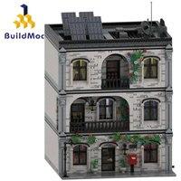 Buildmoc City Buildings Classic Castle Architecture Toys Building Blocks MOC City Street View House Educational Kids Toys Gift