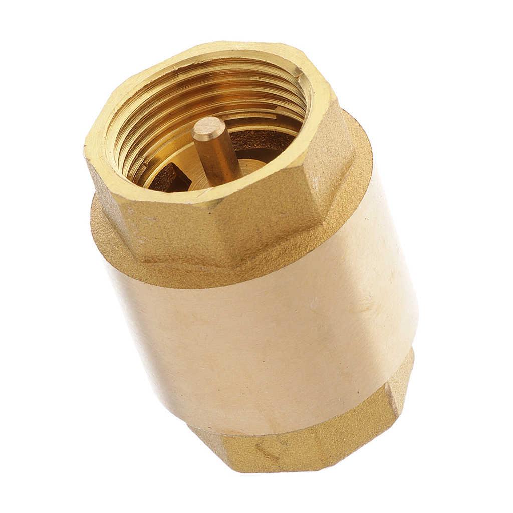 真鍮チェックバルブ空気液体一方向チェックバルブ 3/4 インチ