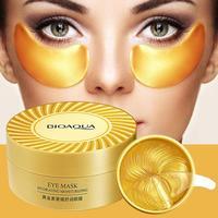 60 stücke Gold Kollagen Augen Maske Anti Schlaf Kristall Auge Patch Feuchtigkeitsspendende Augenringe Entferner Augen Maske Augen Pflege