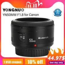YONGNUO YN50mm YN50 F1.8 EF EOS 50 مللي متر AF MF كاميرا عدسات لكاميرات كانون المتمردين T6 EOS 700D 750D 800D Mark II IV للهاتف عدسة الكاميرا