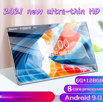 2021 New Hotselling  Android 9.0 Tablet 10 Inch with 6GB + 128GB Memory Dual SIM Card Ipad Pro Phone 4G Call Phone Tablet 1
