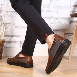Image 3 - 2020 autunno Mens Casual Scarpe Comode Traspirante Slip on scarpe di Tela Piatta Mocassini Scarpe Uomo di Guida Morbido Scarpe Formato di Grandi Dimensioni 50