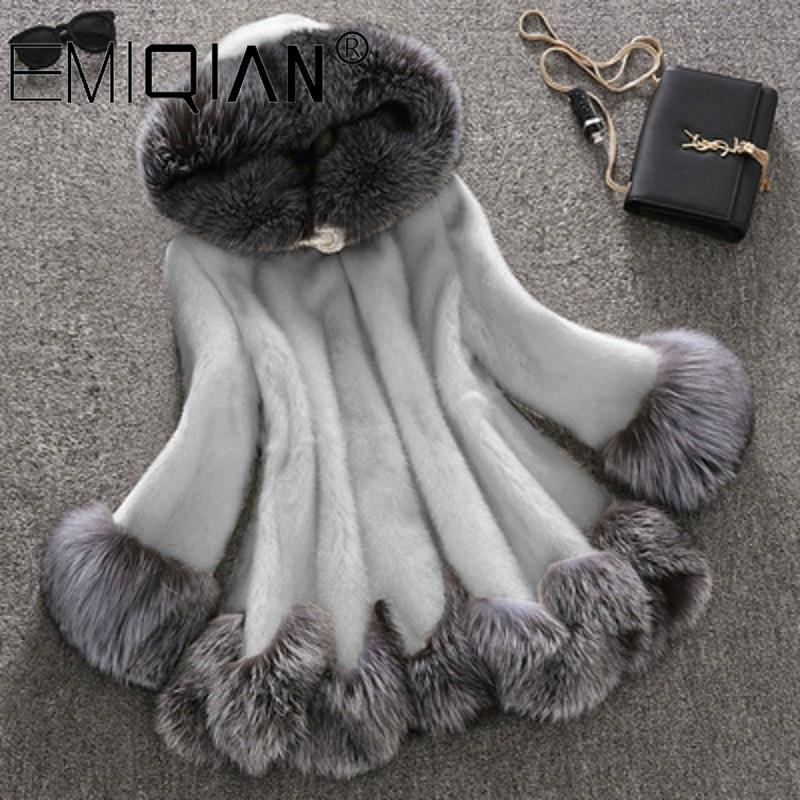 Brand Fluffy Faux Fur Coat Women Furry Fake Fur Outerwear 2019 Autumn Winter Warm Coat Jacket Lady Party Elegant Overcoat
