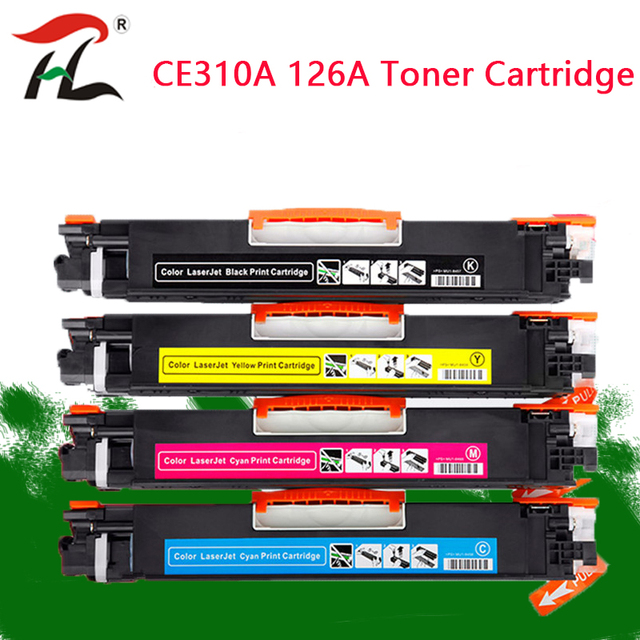 4PK CE310A CE311A CE312A CE313A 126A Compatibel Kleur Toner Cartridge Voor Hp Laserjet Pro CP1025 M275 100 Color Mfp M175a m175nw