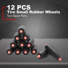 12Pcs Replacement Tire Small Wheels Rubber Tyre Spare Parts for DJI RoboMaster S1 Intelligent Educational Robot