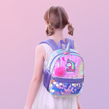 Sunveno Reversible Sequin Bag Backpack Unicorn Girls School Bags Kindergarten Schoolbag Best Gift for Girls sunveno оранжевый