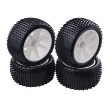 4Pcs 1/10 RC 버기 타이어 HSP Hongnor ZD 레이싱 용 타이어 및 휠 림 LRP VRX Redcat FTX 크롤러 카