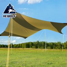 Hewolf 6-10 Person Oxford Waterproof Sun Shelter Outdoor Beach Fishing Anti-UV Sun Shade Tents With Poles Camp Gazebo 500x500cm(China)
