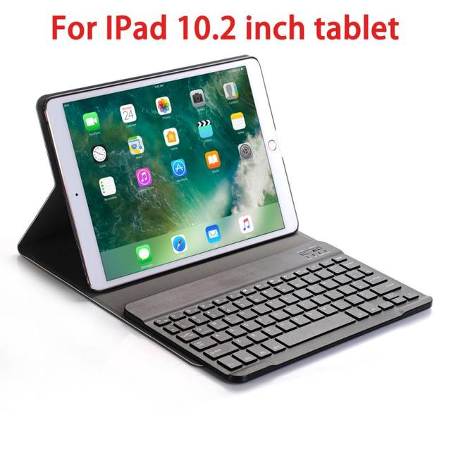 4 Colors Wireless Keyboard Case For IPad 10.2 Inch 7th Generation Keyboard Leather Smart Case Stand Computer Peripherals