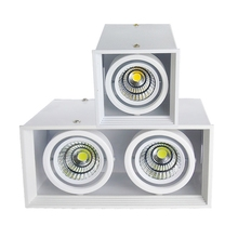 GD 1pc COB LED Downlight 14W 20W 30W Surface Mounted 1 Head 2 Grille Light AC85-265V Spot For Home Decor