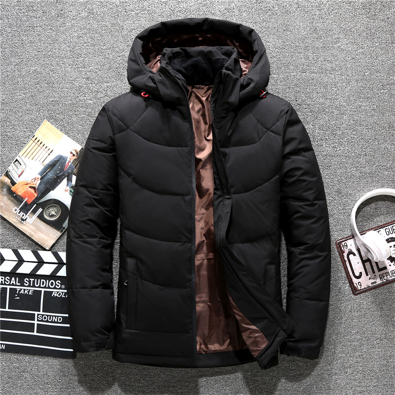 Men's   down   jacket Tace & Shark brand thick men's winter jackets &   coats   windbreaker high quality parka men with hat overcoats
