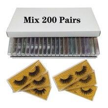Atacado cílios 50/100/150/200 pares falso 3d vison cílios postiços naturais maquiagem cílios grossos vison cílios no volume