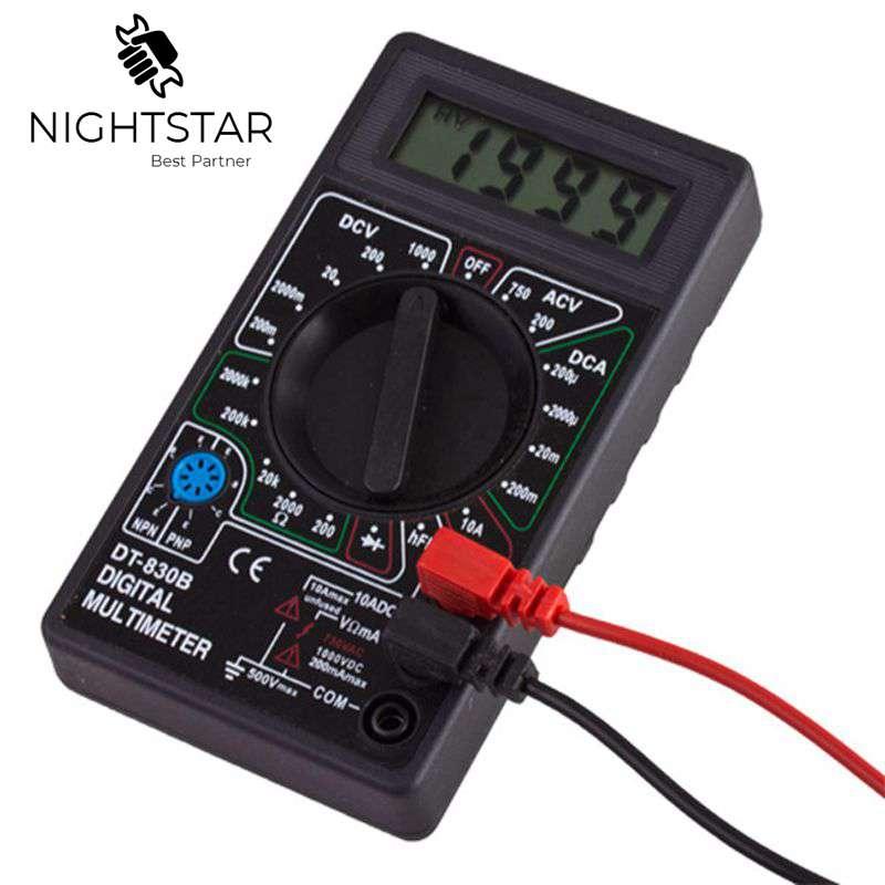 Цифровой мультиметр DC AC Вольтметр Амперметр Ом диодный тестер Измеритель проверки и HFE защита от перегрузки DT830B